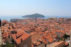 Dubrovnik. Old Town. Lokrum Island. Dubrovnik. Old Town. Roofs of the old town. Lokrum Island stock images