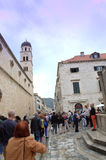 Dubrovnik Old town main street Royalty Free Stock Image