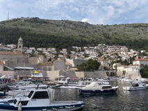 Dubrovnik old town marina Royalty Free Stock Image