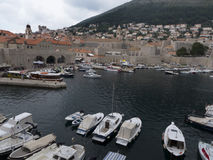Dubrovnik old town marina Stock Image