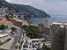 Dubrovnik old town marina Royalty Free Stock Photography