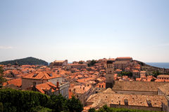 Dubrovnik old town panorama Stock Images
