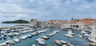 Dubrovnik Old Town. A panoramic view of Dubrovnik Old Town Stock Image