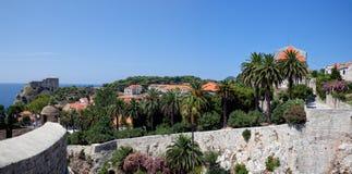 Dubrovnik old town - park Stock Image