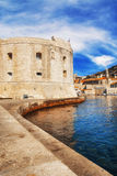 Dubrovnik old town pier Royalty Free Stock Image