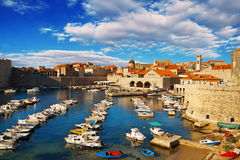 Dubrovnik old town pier Royalty Free Stock Photography
