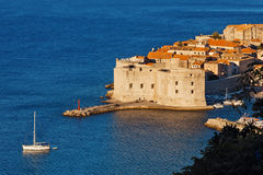 Dubrovnik old town pier Royalty Free Stock Images