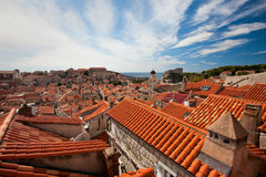 Dubrovnik old town red roofs Stock Photography