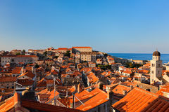 Dubrovnik old town red roofs Stock Photo