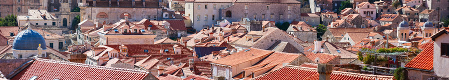 Dubrovnik old town red roofs Royalty Free Stock Images