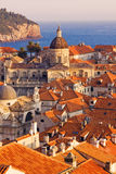 Dubrovnik Old Town roofs. At sunset Stock Photography