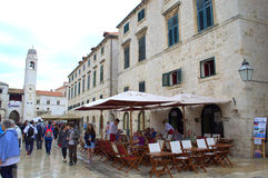 Dubrovnik old town square Royalty Free Stock Photography