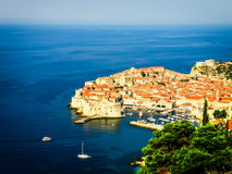 Dubrovnik old town view with the harbour Stock Images