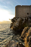 Dubrovnik Old Town Walls by Sunset Stock Photography