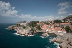 Dubrovnik op de Adriatische Kust stock afbeeldingen