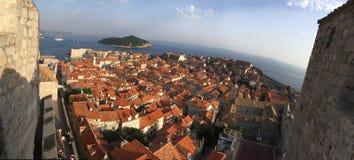 Dubrovnik. Orange roofs in Dubrovnik Croatia Royalty Free Stock Image