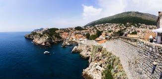 Dubrovnik - pärlan av den Adriatiska havet kusten Arkivfoto
