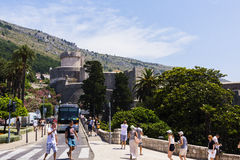 Dubrovnik - pärlan av den Adriatiska havet kusten Royaltyfria Foton