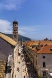 Dubrovnik - pärlan av den Adriatiska havet kusten Royaltyfri Bild