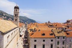 Dubrovnik - pärlan av den Adriatiska havet kusten Arkivfoton