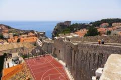 Dubrovnik - pärlan av den Adriatiska havet kusten Arkivbilder