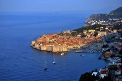 Dubrovnik på soluppgång Arkivfoto