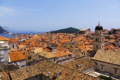 Dubrovnik - a pérola da costa adriático Fotos de Stock Royalty Free