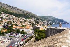 Dubrovnik - a pérola da costa adriático Fotografia de Stock Royalty Free