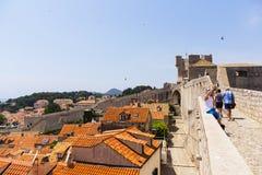 Dubrovnik - a pérola da costa adriático Imagem de Stock Royalty Free