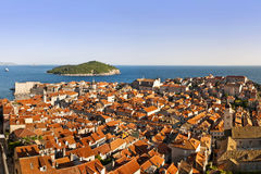 Dubrovnik Panorama. Panorama of old town of Dubrovnik, the pearl of Adriatic, Croatia Royalty Free Stock Photos