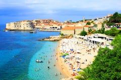 Dubrovnik-Panorama Stockfoto