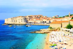 Dubrovnik-Panorama Stockbilder