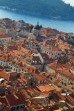 Dubrovnik panorama at sunrise, travel background Royalty Free Stock Photo
