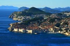 Dubrovnik panoramautsikt Arkivbilder