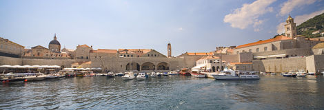 Dubrovnik - panoramic view from seaside Royalty Free Stock Images