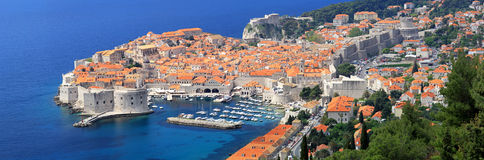 Dubrovnik panoramico Fotografie Stock Libere da Diritti
