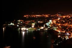 Dubrovnik par nuit Images stock