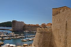 Dubrovnik - parel van Adriatic Stock Afbeelding