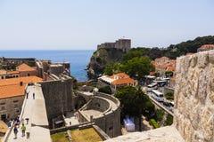 Dubrovnik - perła Adriatycki wybrzeże Obrazy Royalty Free