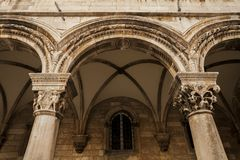 Dubrovnik pillar Royalty Free Stock Image