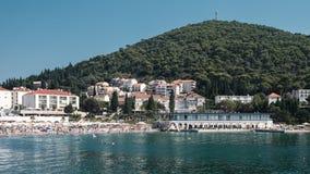 Dubrovnik plaża zdjęcia stock