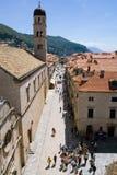 Dubrovnik Placa Stock Fotografie