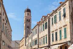 Dubrovnik Plaza Stradun from street level Royalty Free Stock Photography