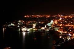 Dubrovnik por noche Imagenes de archivo