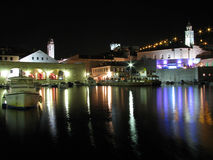 Dubrovnik por noche, Croatia Fotografía de archivo