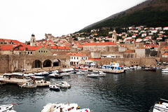 Dubrovnik port Royalty Free Stock Images