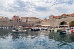 Dubrovnik. Port and fortress Royalty Free Stock Image