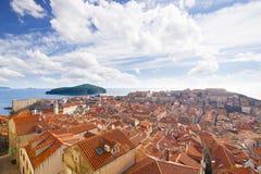 dubrovnik powietrzny widok Chorwacja zdjęcie stock