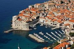 Dubrovnik, puerto viejo y fortaleza San Juan (SV Ivana) Foto de archivo libre de regalías