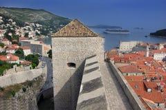 Dubrovnik röda tak Royaltyfria Bilder